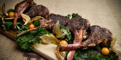 Coffee Rubbed Steak or Lamb Chops
